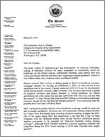 Slom Letter to GAO