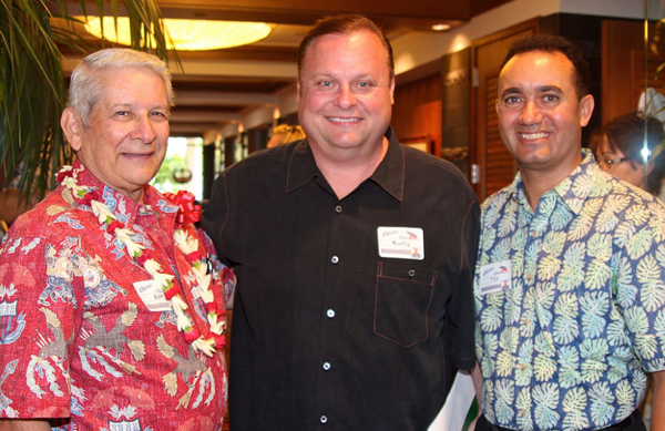 Sen. Sam Slom, Rusty Humphries, HIRA President Tito Montes at HIRA Luncheon